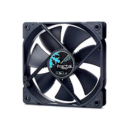 Fractal Design Dynamic X2 GP-12 PMW Computer Fan - Silent Fan - High Airflow – 120x120x25 mm – 1200RPM – FDB-Bearings – Trip Wire - Aerodynamically Shaped Struts - Black Edition (Single)