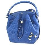 Creative bag 'Nica'blue (2 compartments)- 24.5x24x6 cm (9.65''x9.45''x2.36'').