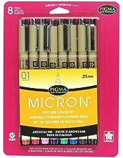 مجموعة أقلام حبر كروت بليستر من ساكورا بيغما 01 8CT Set 30068
