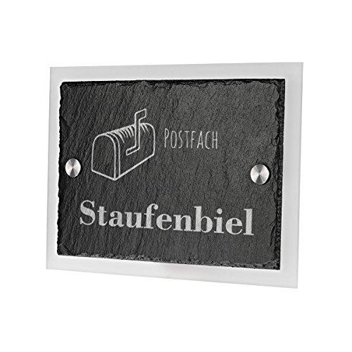 Ardoise plaque de porte avec verre acrylique avec gravure personnalisée motif lettres