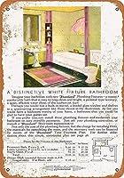独特の白い浴室ティンサイン壁鉄絵レトロプラークヴィンテージメタルシート装飾ポスターおかしいポスターぶら下げ工芸品バーガレージカフェホーム