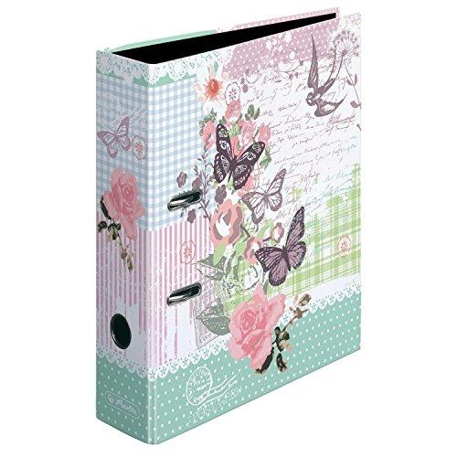 Herlitz 11233061 Ordner A4 Ladylike Butterfly maX.file, 8 cm (5er Pack)