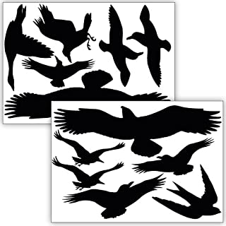 Wandkings Bird and Window Protection, 12 Stickers, Protection Against Bird collisions, Black