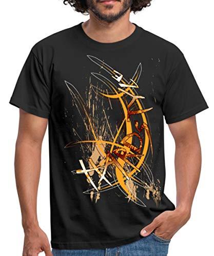Cool Hardstyle Typographie Männer T-Shirt, XL, Schwarz