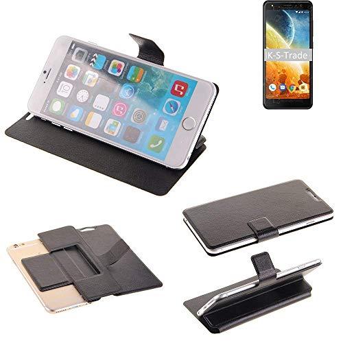 K-S-Trade Schutz Hülle Für Energizer Power Max P490S Schutzhülle Flip Cover Handy Wallet Hülle Slim Handyhülle Bookstyle Schwarz