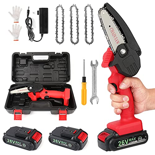 Mini Chainsaw Cordless Power Electric-Chain-Saws -...