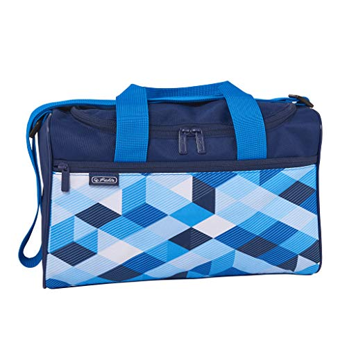 herlitz 50021918 Sporttasche Blue Cubes, 1 Stück
