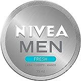 NIVEA MEN Fresh (1 x 75 ml), gel hidratante facial y corporal con menta acuática 100% natural, gel refrescante, ligero y no graso de rápida absorción