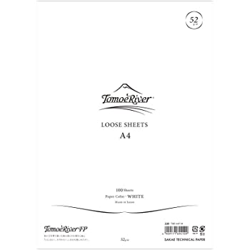 "Tomoe River FP Loose Sheet, 8.27 x 11.7"", 100 Sheets/Pack, White (TMR-A4P-W)"