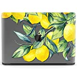 Mertak Hard Case for Apple MacBook Pro 16 Air 13 inch Mac 15 Retina 12 11 2020 2019 2018 2017 Shell Design Tree Lemon Tropical Citrus Plastic Print Clear Protective Cover Yellow Leaves Touch Bar