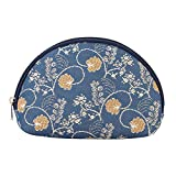 Signare Tapestry cosmetic bag makeup bag for Women with Jane Austen Blue (COSM-AUST)