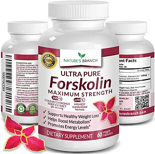 Premium 100% Ultra Pure Forskolin for Weight Loss Max Strength w/ 40%...