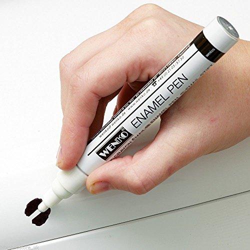 Weißer Emaille-Reparatur-Stift, Lackstift, für Badezimmer und Küche