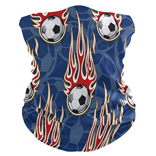 Funnyy - Pasamontañas para el cuello y el fuego, diseño de pelota de béisbol, bufanda, bandana, pasamontañas, sin costuras, mágico, pañuelo para la cabeza, multifuncional, diadema para deportes al aire libre, yoga, correr