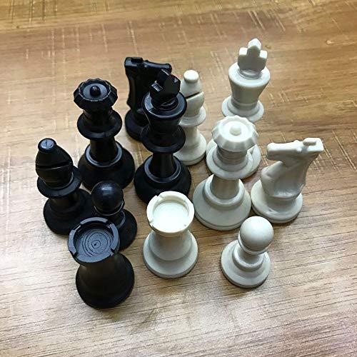 THQC 1 Set Mittelalterliche Schachfiguren aus Kunststoff Schachfiguren Internationalen Wort Schach Entertainment Schwarzweiss-65 MM Dropshipping