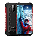 Ulefone Armor X5 4G Rugged Unlocked Cell Phones, Rugged Phones Waterproof Android 10 5.5''HD 32GB+3GB Dual SIM Smartphone 13MP+5MP Camera 5000Mah, Shockproof/Compass/Face ID/NFC/-Red
