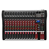 Fineshine 8/12/16 Channel Audio Mixer Sound Mixing Console with Bluetooth USB,PC Recording Input,...