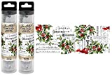 Tim Holtz Christmas 2020 by idea-Ology, Holly Collage Paper, Bundle of 2 Packages, 12 Yards Total