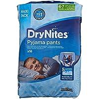 Huggies DryNites Calzoncillos Absorbentes para Niños, 4-7 Años (17 - 30 Kg) - 16 Pañales