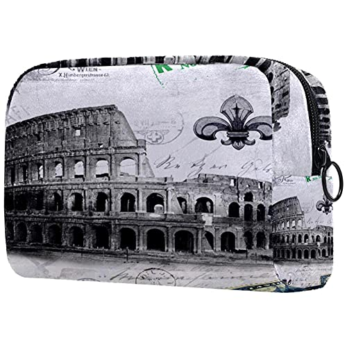 Trousse de Maquillage Sacs à cosmétiques de Voyage Portables, Arène de Rome de l'Italie Antique