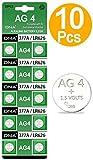 DNA Lot de 10piles AG4 SR626SW SR626 377 pour montre