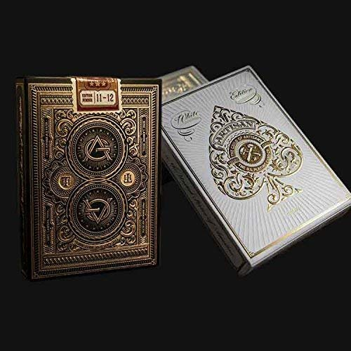 Theory11 Artisan Playing Card 2 Deck Bundle (1 - Black, 1 - White)