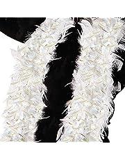Folat B.V.- Boa de Plumas Blanco con espumón Dorado, Color (20410)
