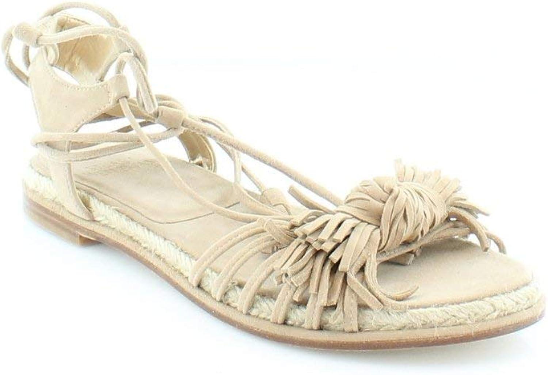 Stuart Weitzman Womens Flowerpot Leather Open Toe Casual Espadrille Sandals