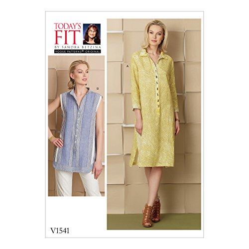 Vogue Patronen 1541 OS,Missen Jurk en Shirt,Maten A-J, Tissue, Multi-Colour, 20 x 0.5 x 25 cm