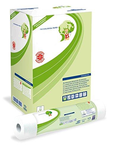 18 Rotoli di Carta per lettini Massaggio Certificati Ecolabel Professionale da 80 Mt.