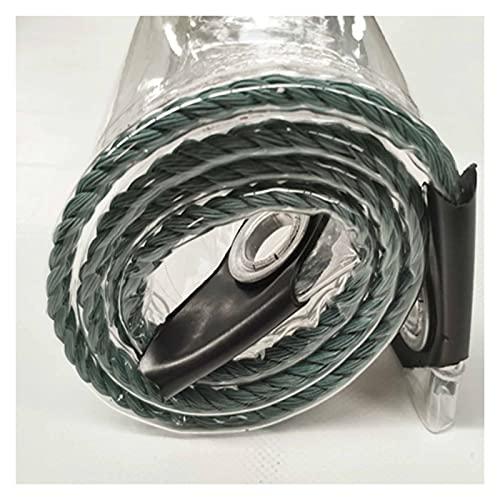 KUAIE Telone in PVC Tarpaulin Trasparente Antipioggia 0,35mm Pieghevole per Terrazza, Arredamento, Automobili, Personalizzabile (Color : Transparent, Size : 3x5m)