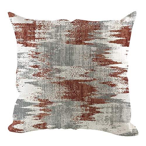 Ronamick Funda de almohada de lino simple creativa y cómoda para sofá o coche, 45 x 45 cm (multicolor)