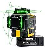 Kreuzlinienlaser Grün 3x360°, KAIWEETS KT360A selbstnivellierender Laser, manueller Modus ab 4°(Blinkmodus), Arbeitsbereich: 30m (60m mit Empfänger), Arbeitszeit bis 44h, Genauigkeit: +/-3mm@10m