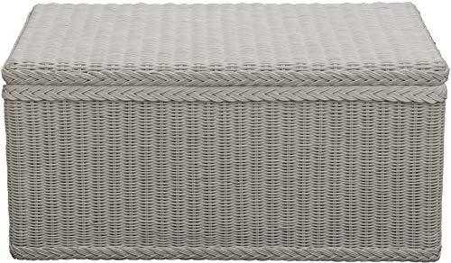 Spielzeugtruhe/Wäschetruhe aus Rattan in der Farbe grau groß - 2