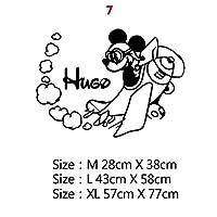 LHSY カスタム名前ミッキーミニーマウスビニールウォールステッカーの装飾のために保育園ルームキッズルームの装飾ロシアの壁デカールステッカー (色 : 7, サイズ : Size XL)