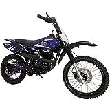 X-PRO Hawk 150cc Adults Dirt Bike Pit Bike Youth Dirt Pit Bike Dirt Bike Dirt Pitbike,Big 19'/16' Wheels-Blue