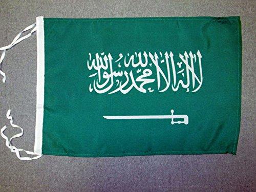 AZ FLAG Bandera de Arabia Saudita 45x30cm - BANDERINA SAUDÍ 30 x 45 cm cordeles