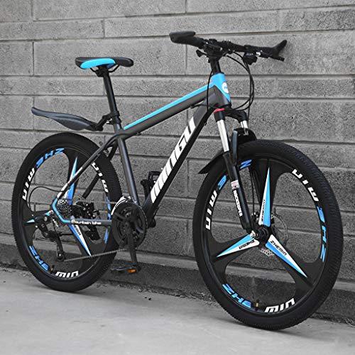 Unbekannt Mountainbike MTB 27 Speed Steel Rahmen 26 Zoll Federung Dämpfung Bike,Blue Black