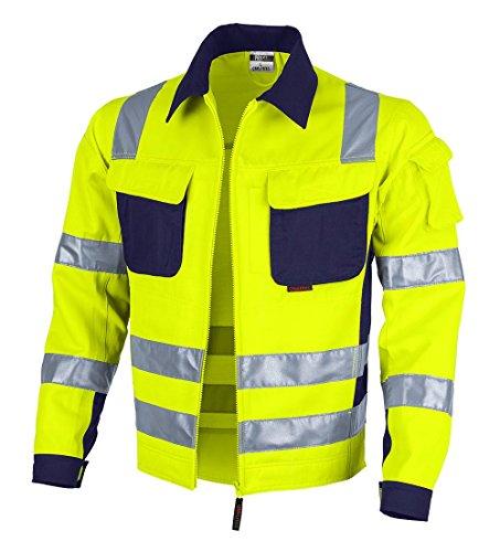 Qualitex Warnschutz-Jacke PRO MG 245 - gelb/marine - Größe: L