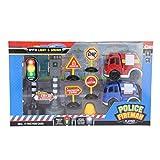 Toi-Toys Jeu de police et pompiers 9 pièces
