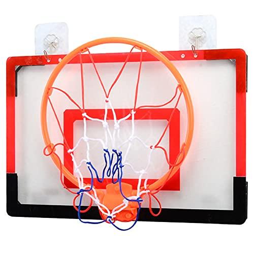 RHSMW Canasta De Baloncesto De Pared, Aro De Baloncesto Adulto Sin Perforado De Pared, Adecuado para Juguetes Deportivos Al Aire Libre para Niños Y Exteriores,Rojo