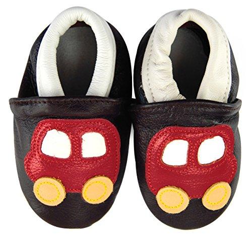 Axy bébé chaussons chaussures en cuir Chaussures bébé enfant Jardin Chaussures – Voiture - Multicolore - Mehrfarbig,