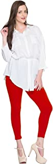 Dollar Missy Women's Cotton Ankle-Length Leggings (8902889043982, Red, Free Size)