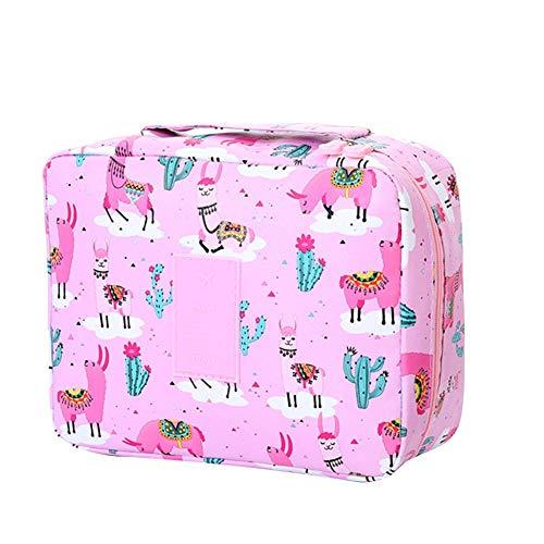 Demarkt Design Kulturtasche zum Aufhängen Kulturbeutel mit Tragegriff Duschbeutel für Damen Männer Mädchen Pflegeprodukte Makeup zur Reisen Urlaub Outdoor (Rosa)