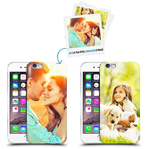 Anukku Custodia Cover Air Gel Ultra Sottile Personalizzata con la Tua Foto, Immagine o Scritta per Apple iPhone 6-6s Stampa di qualità Fotografica con Mimaki