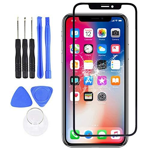 Whiie891203 Frontglas-Kit-Kit, Ersatz-Reparaturset Für Die Frontglasscheibe Kompatibel Mit iPhone X XR XS 11 Pro Max für iPhone 11