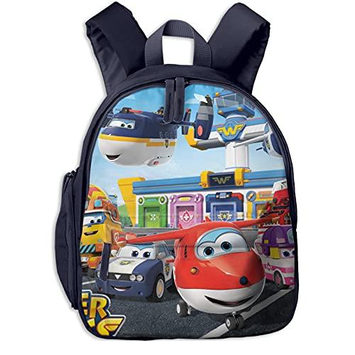 Mochila para niños para guardería, escuela preescolar, Super Wings Team mochila impermeable para bebé