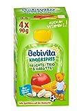 Bebivita Kinder-Spaß Früchte-Trio & Karotte, 4er Pack ( 4 x 4 x 90 g )