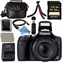 Canon PowerShot SX530 HS Digital Camera 9779B001 + NB-6L Lithium Ion Battery + External Rapid Charger + Sony 64GB SDXC Card + Mini HDMI Cable + Small Case + Memory Card Wallet Bundle