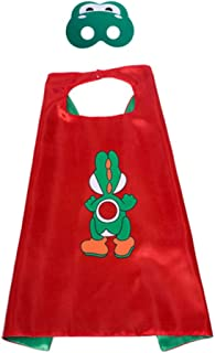 Super Mario Cape and Mask Set Costume Kids Birthday Party Supplies Superhero Style Cosplay Costumes